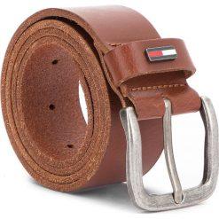 Pasek Męski TOMMY JEANS - Tjm Flag Loop Belt 4.0CM AM0AM02794  257. Brązowe paski męskie Tommy Jeans, w paski, z jeansu. W wyprzedaży za 139,00 zł.