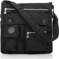 Męska Torba na ramię raportówka Bag Street  Czarna. Czarne torby na ramię męskie marki Bag Street, w paski, z materiału, na ramię, duże. Za 67,90 zł.