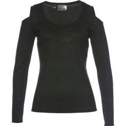 Swetry klasyczne damskie: Sweter z odkrytymi ramionami bonprix czarny