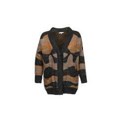 Swetry rozpinane / Kardigany See U Soon  DUZIR. Brązowe kardigany damskie marki See u Soon. Za 351,20 zł.