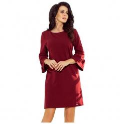 Numoco Sukienka Damska, L, Burgund. Czerwone sukienki z falbanami marki numoco, l. Za 189,00 zł.