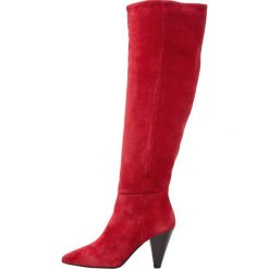 Topshop BOX SLOUCH HI LEG  Muszkieterki red. Czerwone buty zimowe damskie marki Topshop, z materiału. W wyprzedaży za 431,20 zł.