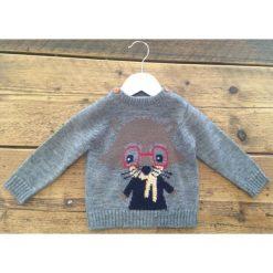 Odzież chłopięca: Minoti Chłopięcy Sweter Z Myszką 68 - 74 Szary