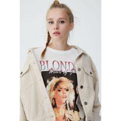 Koszulka Blondie. Szare t-shirty damskie Pull&Bear. Za 69,90 zł.