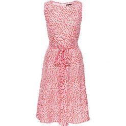 Sukienki: Sukienka bonprix koralowo-biały w kropki