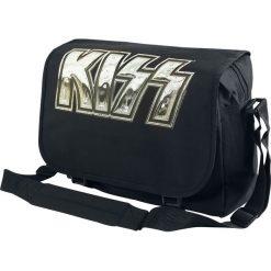 Torby na ramię męskie: Kiss Iron Logo Torba na ramię czarny
