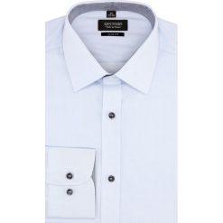 Koszula bexley 2322 długi rękaw slim fit niebieski. Niebieskie koszule męskie na spinki Recman, m, z długim rękawem. Za 49,99 zł.