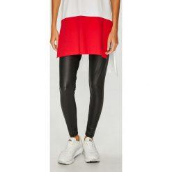 Only - Legginsy Ruby. Czerwone legginsy marki ONLY, l. W wyprzedaży za 69,90 zł.