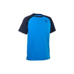 T-Shirt 500 Jr niebieski. Niebieskie t-shirty męskie ARTENGO, m, z elastanu. W wyprzedaży za 24,99 zł.