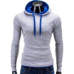 Bluzy męskie: BLUZA MĘSKA Z KAPTUREM CAMILO – SZARO-NIEBIESKA