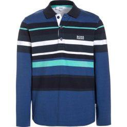 Bluzki dziewczęce bawełniane: BOSS Kidswear LANGARM Koszulka polo blaugrau