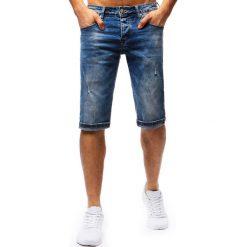 Bermudy męskie: Spodenki męskie jeansowe niebieskie (sx0681)