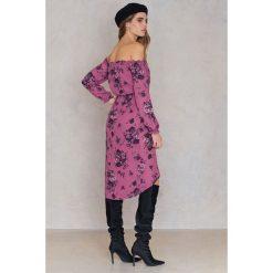 FAYT Sukienka Jack - Purple,Multicolor. Niebieskie sukienki boho marki Reserved, z odkrytymi ramionami. Za 207,95 zł.