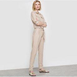 Kombinezony damskie: Kombinezon ze spodniami len/bawełna