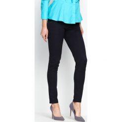 Spodnie damskie: Granatowe Spodnie Imagery