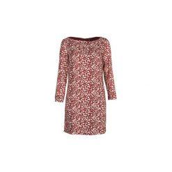 Sukienki krótkie Naf Naf  KAPANTHERE. Czerwone sukienki mini marki NAF NAF, z krótkim rękawem. Za 295,20 zł.