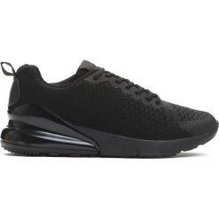 Czarne Buty Sportowe Semblance. Czarne buty skate męskie Born2be, z materiału, na sznurówki. Za 99,99 zł.