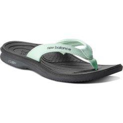 Japonki NEW BALANCE - W6091GRG Zielony. Zielone crocsy damskie marki New Balance, ze skóry ekologicznej. Za 99,99 zł.