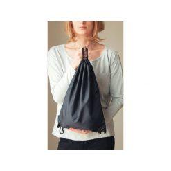 Plecak worek czarny. Czarne plecaki damskie One mug a day, z poliesteru, klasyczne. Za 39,00 zł.