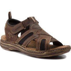 Sandały męskie skórzane: Sandały LASOCKI FOR MEN – MI20-306-A Brązowy