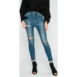 Miss Sixty - Jeansy Luken. Niebieskie jeansy damskie Miss Sixty, z bawełny, z podwyższonym stanem. W wyprzedaży za 269,90 zł.