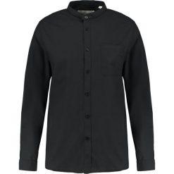 Koszule męskie na spinki: Lindbergh PLAIN MANDARIN COLLAR Koszula biznesowa black