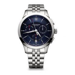 ZEGAREK VICTORINOX SWISS ARMY ALLIANCE CHRONOGRAPH 241746. Niebieskie zegarki męskie Victorinox, ze stali. Za 2590,00 zł.