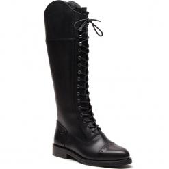Oficerki TRUSSARDI JEANS - 79A002709 K299. Czarne kowbojki damskie Trussardi Jeans, z jeansu, na obcasie. Za 1109,00 zł.