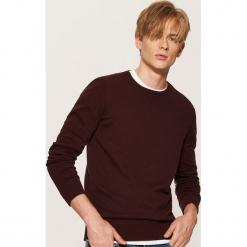 Gładki sweter - Bordowy. Czerwone swetry klasyczne męskie House, l. Za 59,99 zł.