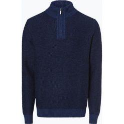 Nils Sundström - Sweter męski, niebieski. Niebieskie swetry klasyczne męskie Nils Sundström, m, z bawełny, ze stojącym kołnierzykiem. Za 179,95 zł.