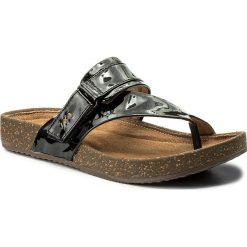 Chodaki damskie: Japonki CLARKS - Rosilla Durham 261325564 Black Patent Leather