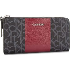 Duży Portfel Damski CALVIN KLEIN - Mono Block Large Zip K60K604693 908. Czarne portfele damskie marki Calvin Klein, ze skóry ekologicznej. Za 299,00 zł.