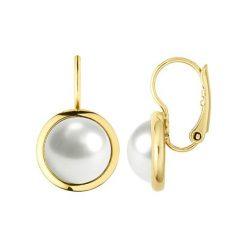 Kolczyki damskie: Kolczyki w kolorze złoto-białym