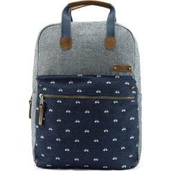 Plecaki męskie: Plecak w kolorze szaro-granatowym – 27 x 40 x 12 cm