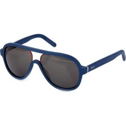 """Okulary przeciwsłoneczne męskie aviatory: Okulary przeciwsłoneczne """"KZ511402"""" w kolorze niebieskim"""