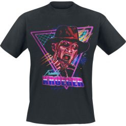 Koszmar z ulicy Wiązów Freddy Retro T-Shirt czarny. Czarne t-shirty męskie z nadrukiem Koszmar z ulicy Wiązów, xxl, z klasycznym kołnierzykiem. Za 74,90 zł.