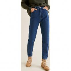 Mango - Jeansy Mommy. Niebieskie jeansy damskie relaxed fit marki Mango, z podwyższonym stanem. Za 139,90 zł.