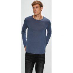 Tom Tailor Denim - Sweter. Szare swetry klasyczne męskie TOM TAILOR DENIM, l, z bawełny, z okrągłym kołnierzem. Za 129,90 zł.