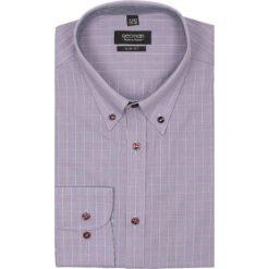 Koszula croft 2066 długi rękaw slim fit fiolet. Brązowe koszule męskie jeansowe marki Recman, m, w kratkę, button down, z długim rękawem. Za 69,99 zł.