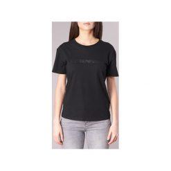 T-shirty z krótkim rękawem Emporio Armani  TAMWA. Szare t-shirty damskie marki Emporio Armani, l, z nadrukiem, z bawełny, z okrągłym kołnierzem. Za 263,20 zł.