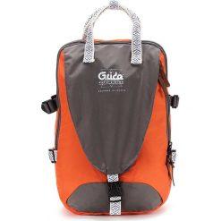 Plecaki męskie: Plecak w kolorze szaro-pomarańczowym – 30 x 46 x 18 cm