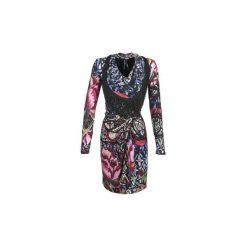 Sukienki krótkie Desigual  HAGERA. Szare sukienki mini marki Desigual, m, z krótkim rękawem. Za 259,50 zł.