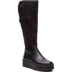 Kozaki EVA MINGE - Rincon 4AM 18SM1372543EF 601. Czarne buty zimowe damskie Eva Minge, z nubiku, przed kolano, na wysokim obcasie. Za 659,00 zł.