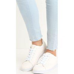 Białe Buty Sportowe Relaxation. Białe buty sportowe damskie Born2be, z materiału. Za 49,99 zł.