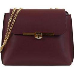 """Torebki klasyczne damskie: Skórzana torebka """"Kelly"""" w kolorze bordowym – 27 x 22 x 10 cm"""