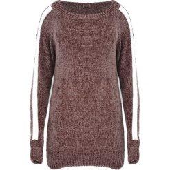 Brązowy Sweter Deep Eyes. Brązowe swetry klasyczne damskie marki Born2be, uniwersalny, z kontrastowym kołnierzykiem. Za 59,99 zł.
