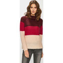 Medicine - Sweter Vintage Revival. Czerwone golfy damskie marki KALENJI, z elastanu, z krótkim rękawem, krótkie. Za 89,90 zł.