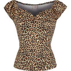 Banned Alternative Leo Shirt Koszulka damska cętki (lampart). Brązowe bralety Banned Alternative, xl, z nadrukiem, z kołnierzem typu carmen. Za 79,90 zł.