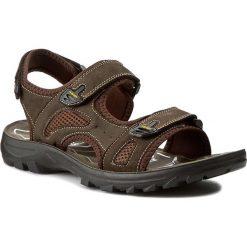 Sandały GINO ROSSI - MN2376-TWO-BNTK-3737-T 92/92. Brązowe sandały męskie skórzane marki Gino Rossi. W wyprzedaży za 119,00 zł.