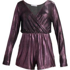 Kombinezony damskie: Glamorous Petite METALLIC PLAYSUIT Kombinezon purple